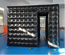 Black airtight inflatable cube booth
