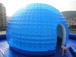 Blue+clear show inflatable dome