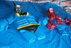 Batman&spiderman sumo wrestling suit