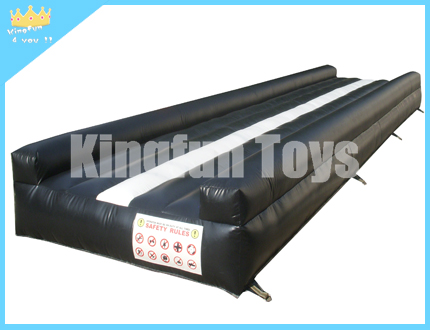 Black inflatable GYM mat