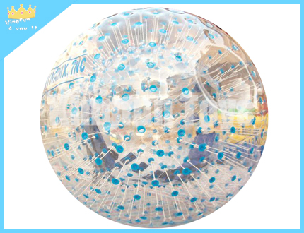 Inflatable zorb ball with dots