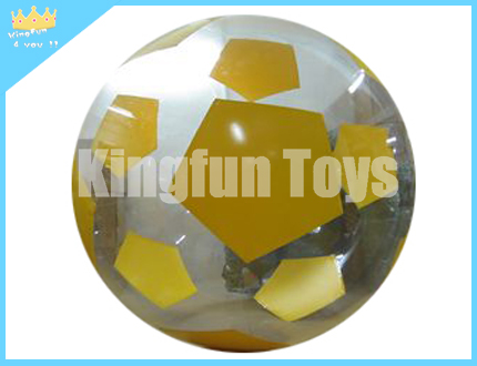 Yellow soccer hamster bubble