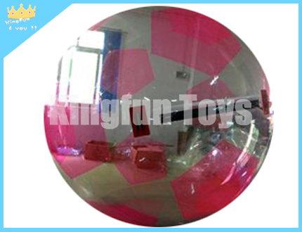 Pink soccer aqua bubble/aqua ball