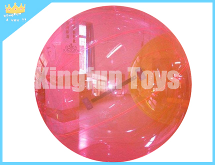 Pink hamster water walking bubble