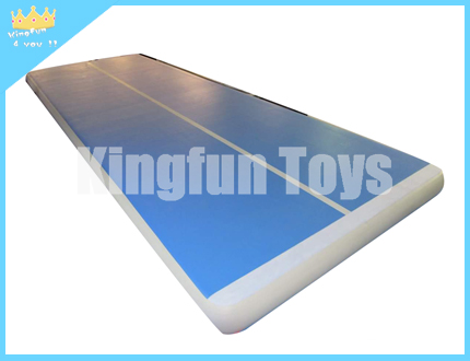Blue Inflatable GYM Track with white
