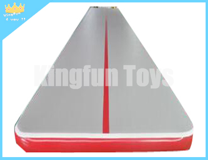 Grey inflatable mattress with red