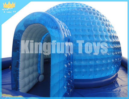 Air -sealed inflatable Crystal dome