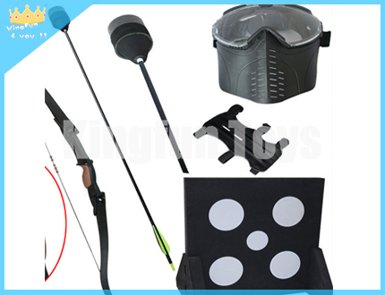Set of archery shooting equipment