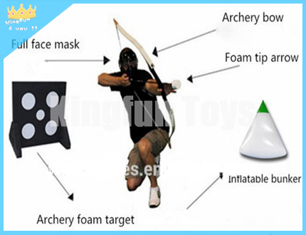 Archery bow for paintball games