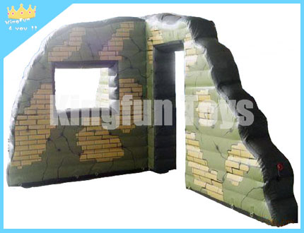 Camouflage paintball obstacles