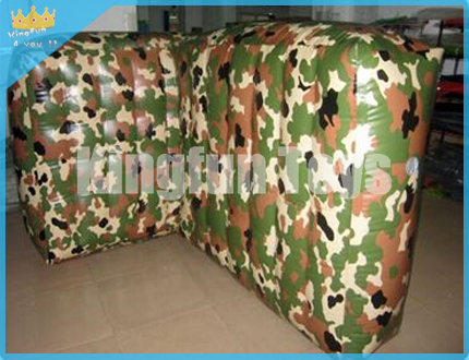Camouflage WALL paintball bunker