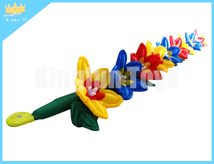 Colorful romantic flower chain