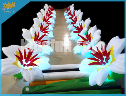 Lighted exhibition  flower decor