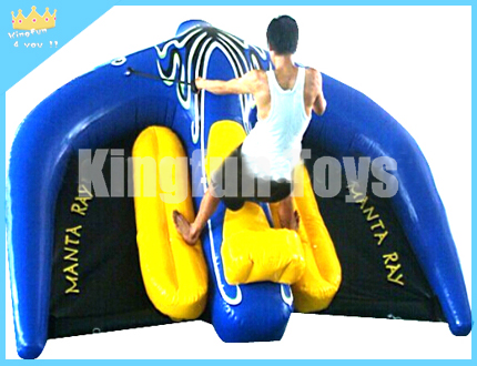 Flying inflatable towable boat