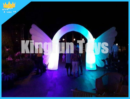 Lighting wedding archway