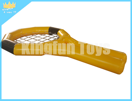 Inflatable tennis racket