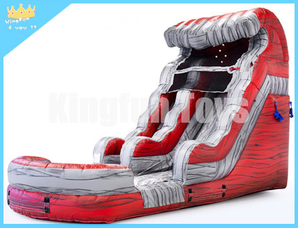 Fire red water slide