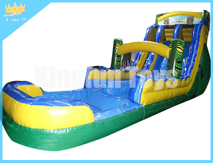 Hot sales wet/dry slide with pool