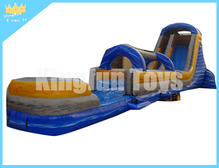 Wet/dry inflatable water slide