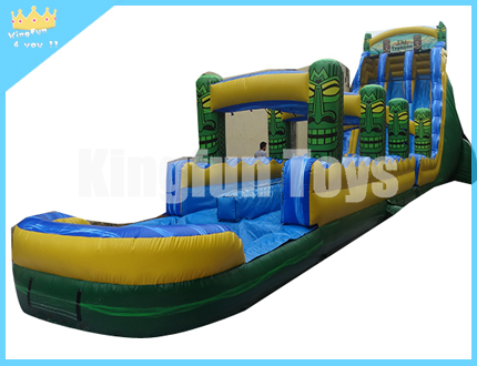 New style water slide with pool