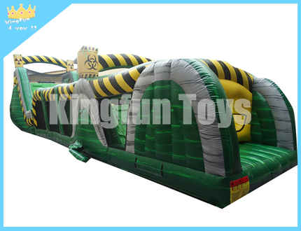 Toxic inflatable water obstacle