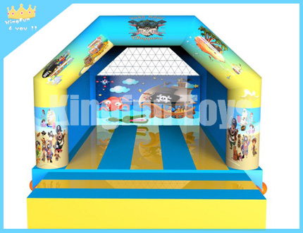 Pirate theme bouncy castle