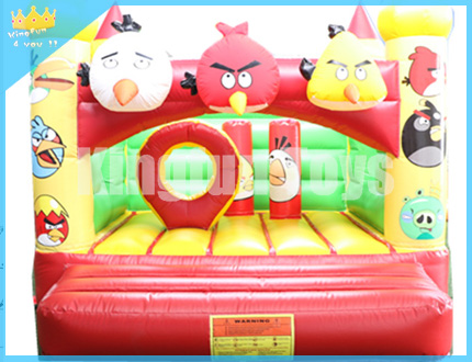 Angry bird trampoline jumper