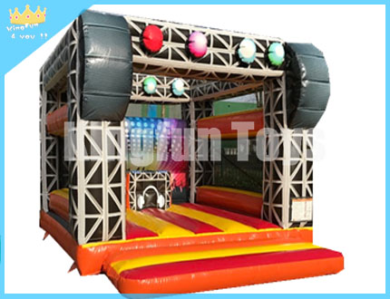 Disco inflatable bouncer