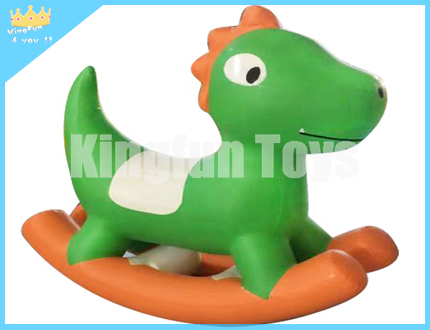 Kids inflatable rocking pony